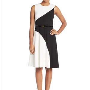 NWT Calvin Klein black and white dress